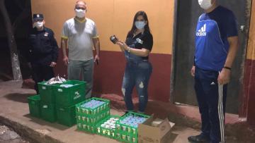 Donación de productos lácteos